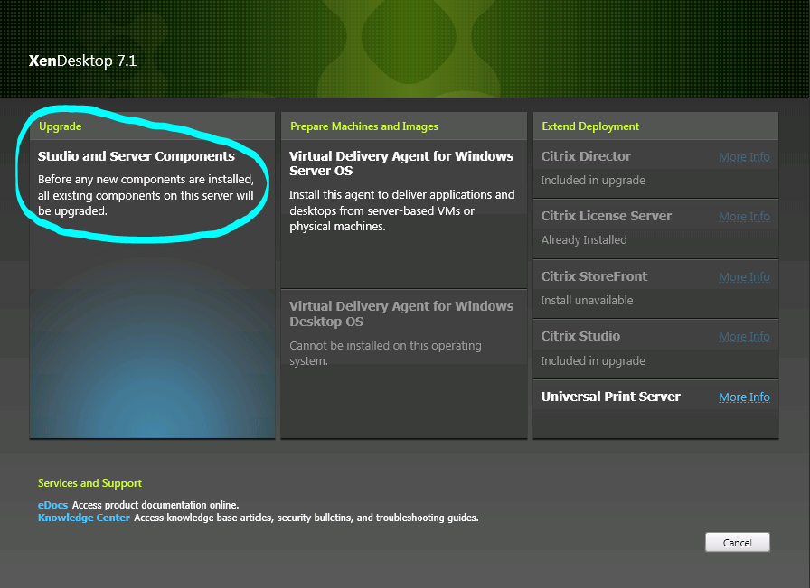 XenDesktop 7.1 - installer