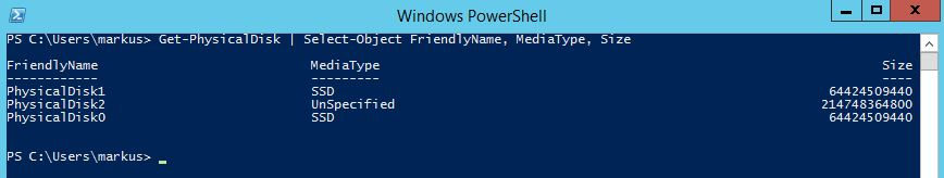 powershell-Get-PhysicalDisk