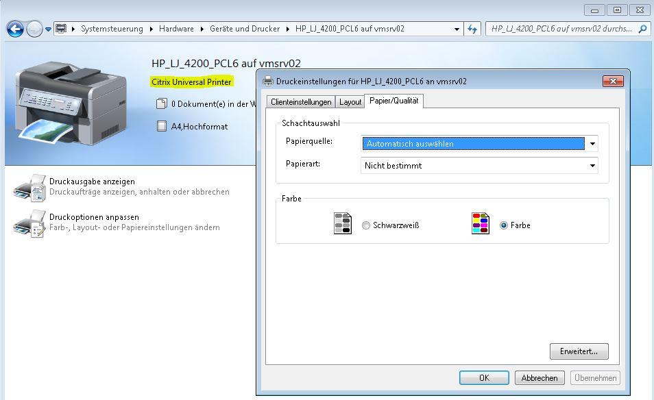 HP Laserjet 4200_UniversalPrintDriver