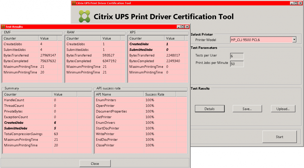 CitrixUPS_PrintDriverCertification_result_CLJ9500